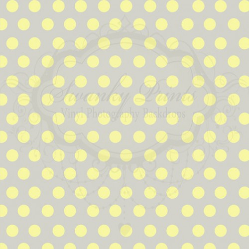 Gray and Yellow Polka Dots