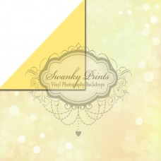 REVERSIBLE Vinyl Backdrop / Double sided / Yellow Bokeh and Solid Pale Yellow