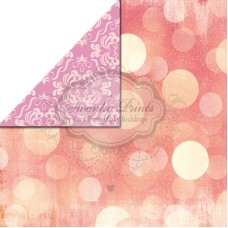 REVERSIBLE Vinyl Backdrop / Double sided / Vintage Pink Bokeh and Blush Damask